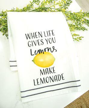 Picture of When Life Gives You Lemons Make Lemonade Dish Towel