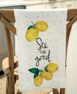 Picture of See the Good Lemon Dish Towel
