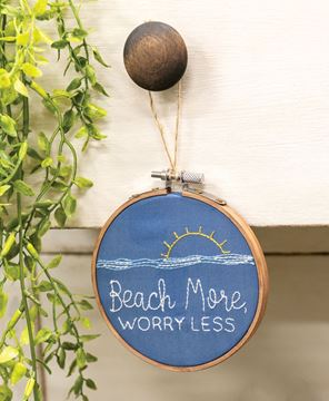 Picture of Beach More, Worry Less Sampler Ornament