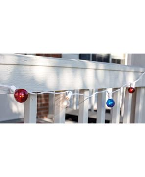 Picture of Patriotic Patio Lights, 10 ct, 9ft