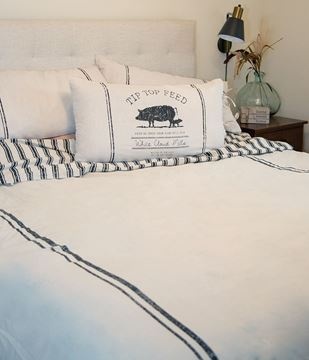Picture of Farmhouse Stripe Duvet Cover, King