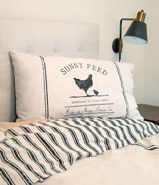 Picture of Sunny Feed Farmhouse Stripe Queen Pillow Sham