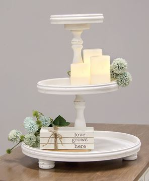Picture of Shabby Chic Wooden Three-Tiered Tray