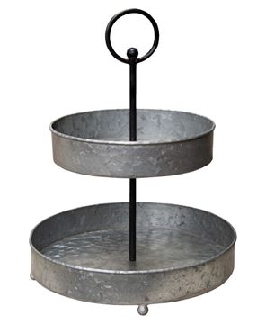 Picture of Galvanized Metal Two-Tiered Tray