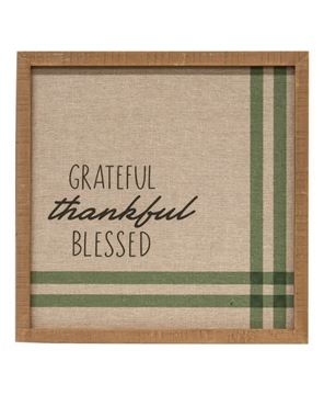 Picture of Grateful Thankful Blessed Feed Sack Frame