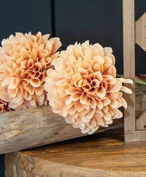 "Picture of Ball Chrysanthemum Spray, Peach, 29"""