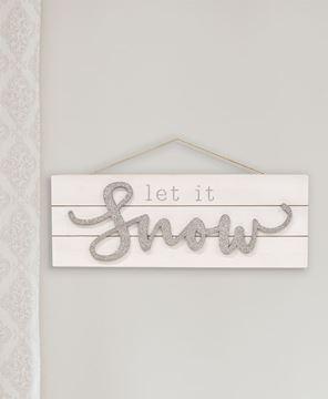 Picture of Sparkle Let It Snow Pallet Sign