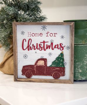 Picture of Home For Christmas Distressed Wooden Frame Sign