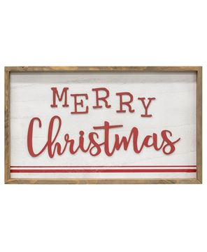 Picture of Merry Christmas Distressed Wooden Frame Sign