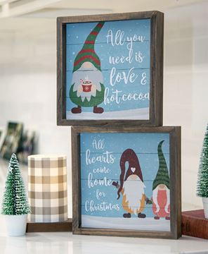 Picture of Hot Cocoa Gnome Slat Frame