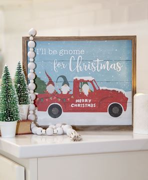 Picture of I'll Be Gnome For Christmas Slat Frame