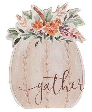 Picture of Gather Chunky Watercolor Pumpkin Sitter