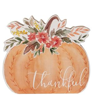 Picture of Thankful Chunky Watercolor Pumpkin Sitter
