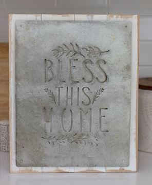 Picture of Bless This Home Vintage Metal Cutout Sign