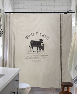 Picture of Sweet Feed Farmhouse Shower Curtain