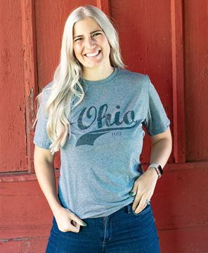 Picture of Ohio Swoosh T-Shirt, Heather Graphite XXL