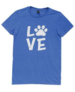 Picture of Paw Print Love Tee XXL