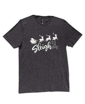 Picture of Sleigh All Day T-Shirt, Heather Dark Gray XXL