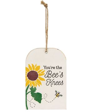 Picture of You're the Bee's Knees Sunflower & Bee Wooden Tag