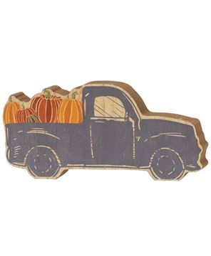 Picture of Chunky Blue Pumpkin Truck Sitter