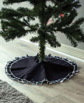 Picture of Black & White Buffalo Check Ruffle Tree Skirt