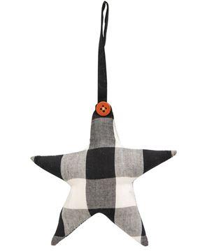 Picture of Black & White Buffalo Check Star Ornament