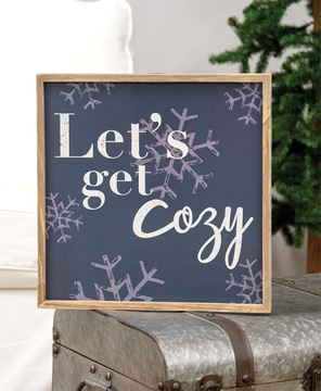 Picture of Let's Get Cozy Snowflake Frame